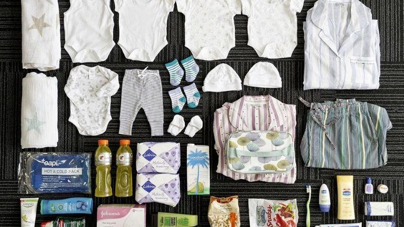 Sắp xếp sẵn các đồ chuẩn bị trước khi đi sinh